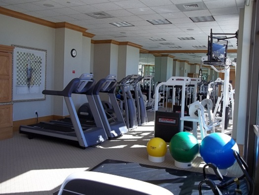 Fitness center with sauna, steam and massage room
